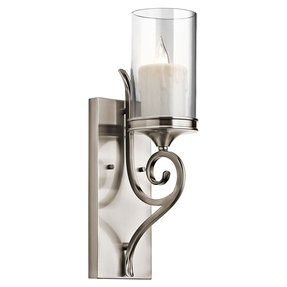 Pewter candle wall sconces 6