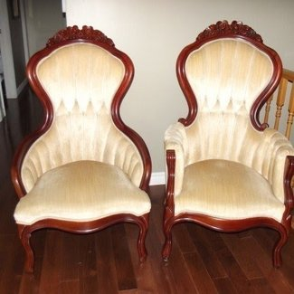 Queen anne style arm chairs 600 00 vintage queen anne