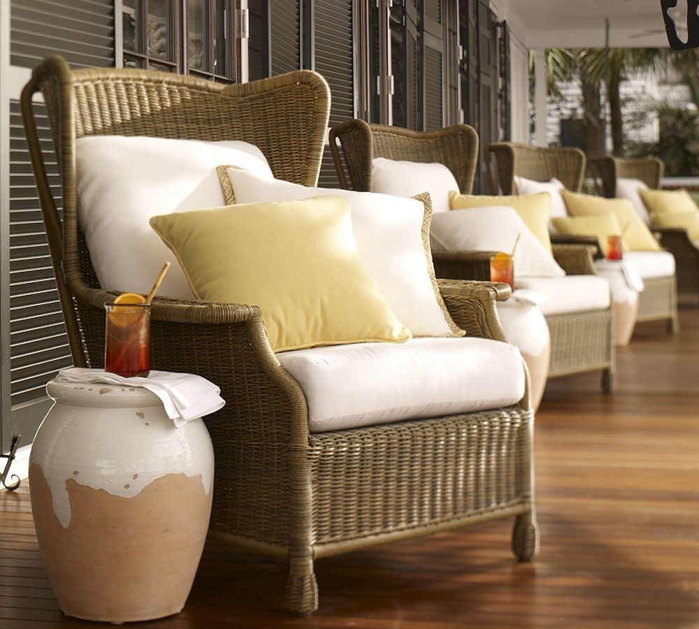 Exceptional Rattan Wing Chair