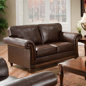 Simmons leather sofa and loveseat 2