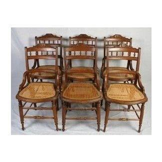 rush bottom chair Red