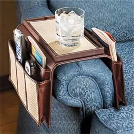 Home Sofa TV Control Remote Handset Holder Caddy Arm Rests Cup Holder Organizer