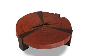 Solid wood round coffee table 2