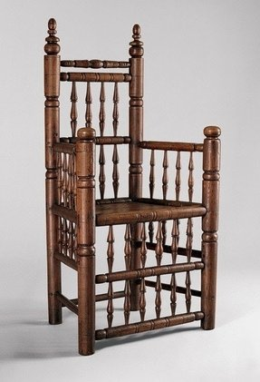 Spindle back armchair 1640 80