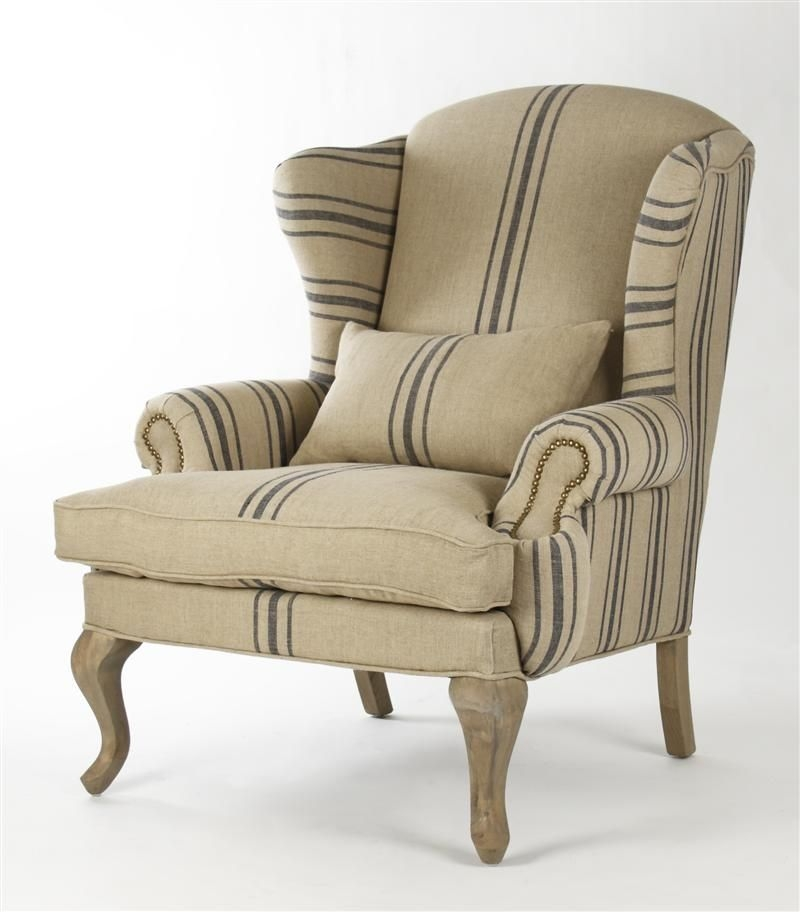 Etonnant Striped Club Chair