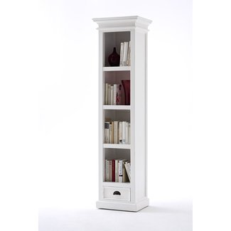 Tall narrow bookshelves