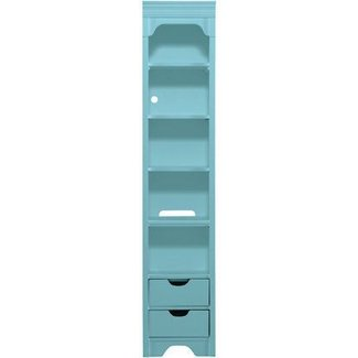 Tall narrow shelving unit