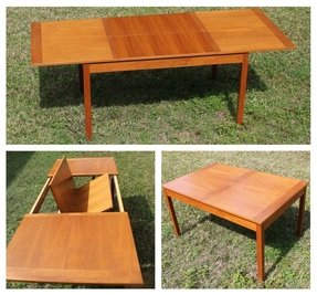 Teak Erfly Leaf Dining Table
