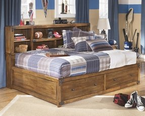 Twin Storage Bed With Bookcase Headboard 1