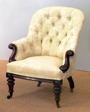 Upholstered Victorian Arm Chair - Foter