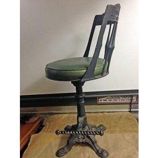 Vintage cast iron calorator d4 swivel bar stool black w