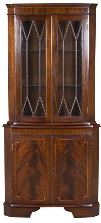 Vintage Corner Cabinet. Corner China Cabinet 3