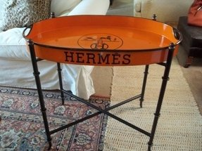 Vintage metal folding table