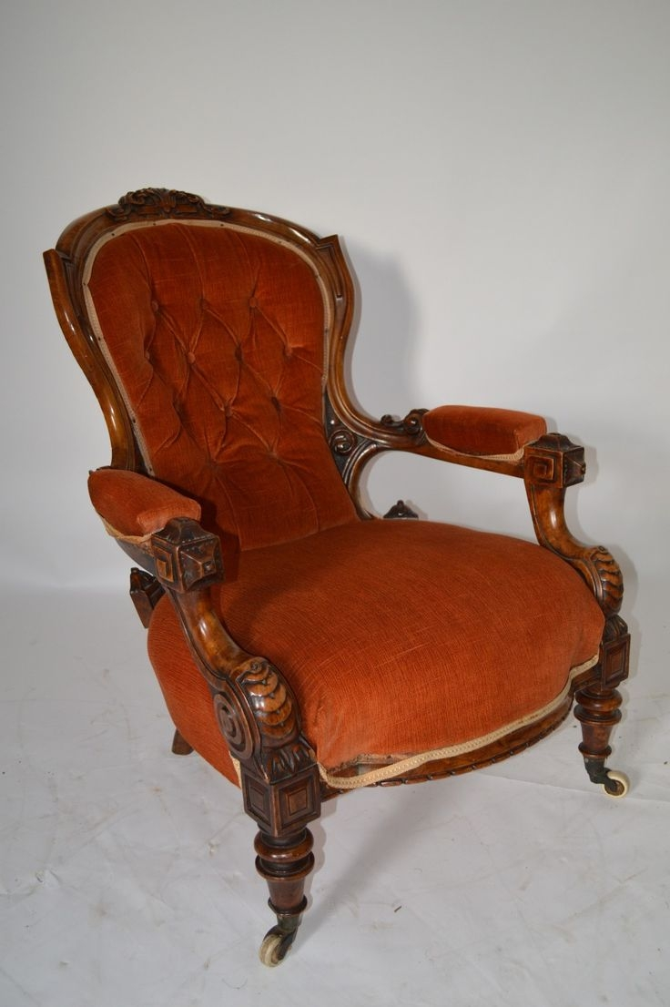 Delicieux Walnut Victorian Arm Chairs 33