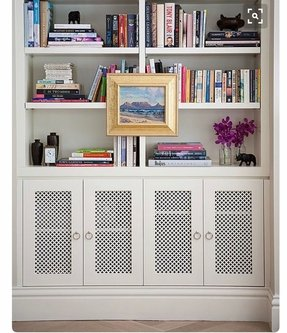White bookshelf with doors 1