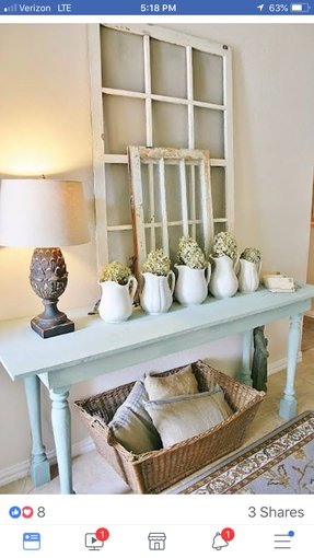 White console table with baskets 4
