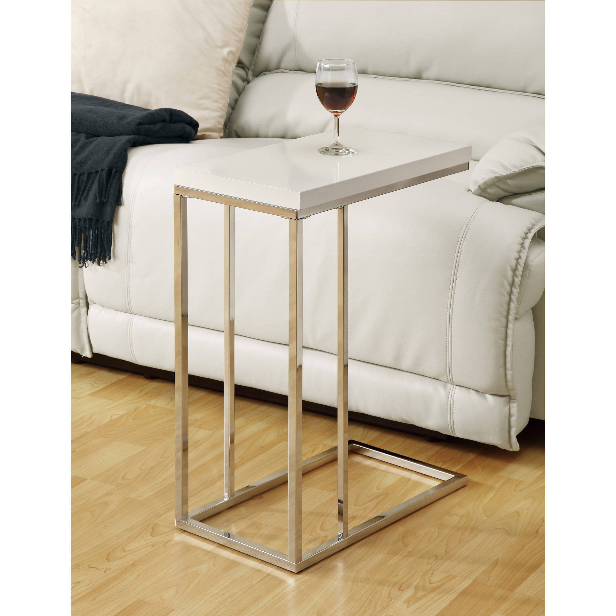 White End Table Small Wood Tv Tray Sofa Couch Side