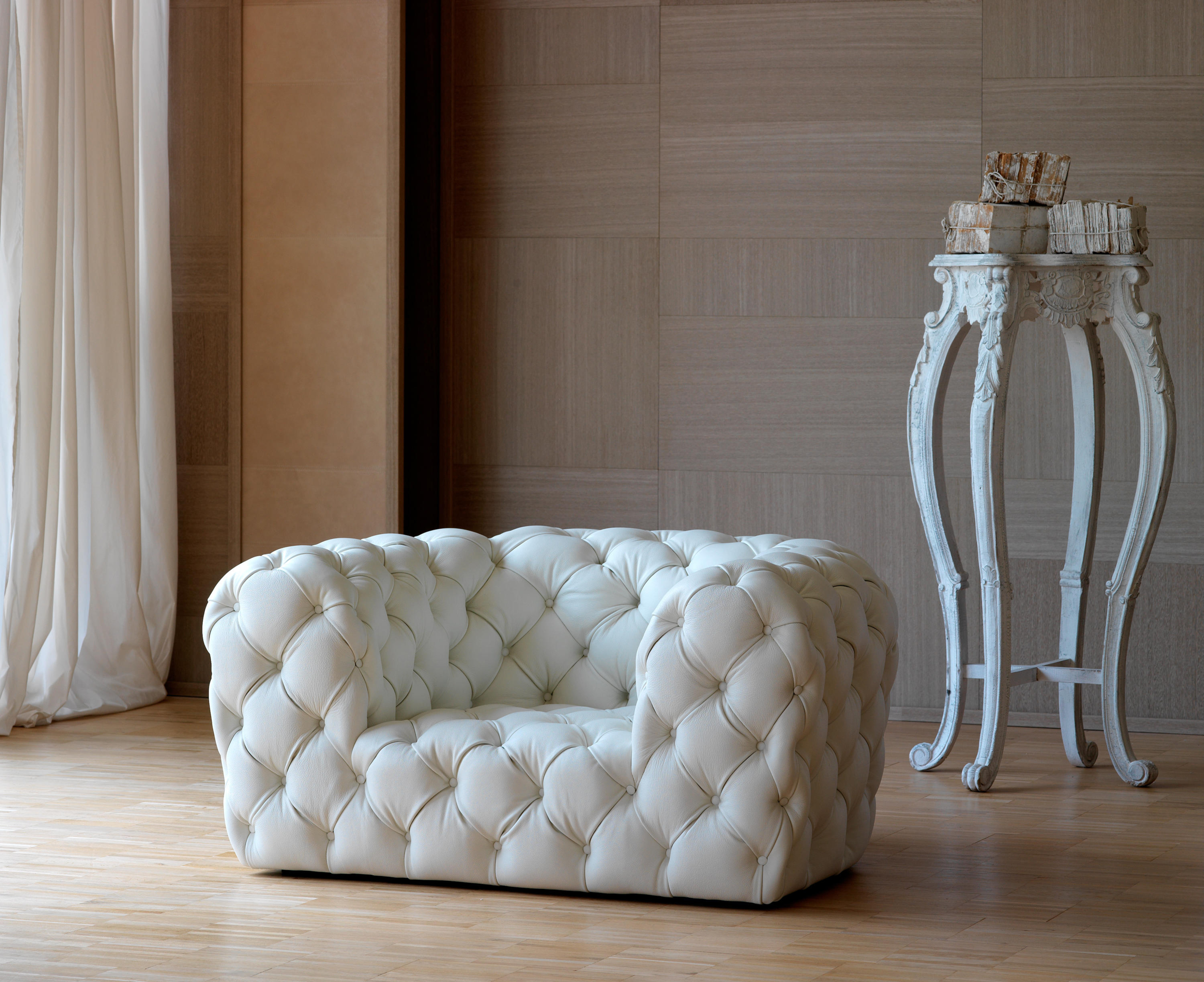 Delicieux White Tufted Leather Sofa By Baxter 2