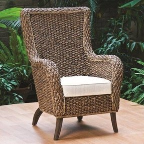 Wicker or rattan chairs