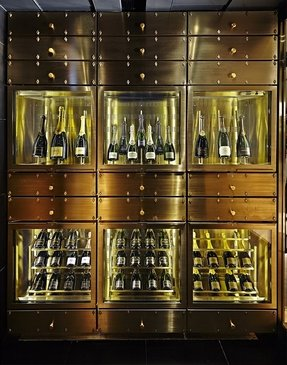 Wine display case