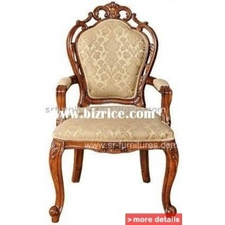 Superbe Wood Antique Arm Chairs 4