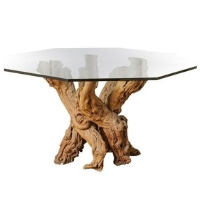 Wood dining table with glass top 3