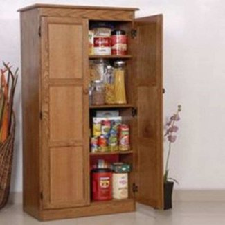 Wood pantry cabinet