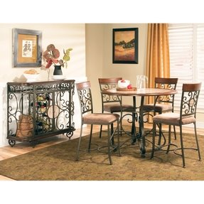 Wrought iron dining table 7