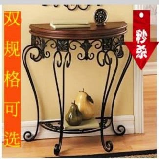 Wrought iron foyer table 3