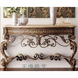 Wrought iron foyer table 8