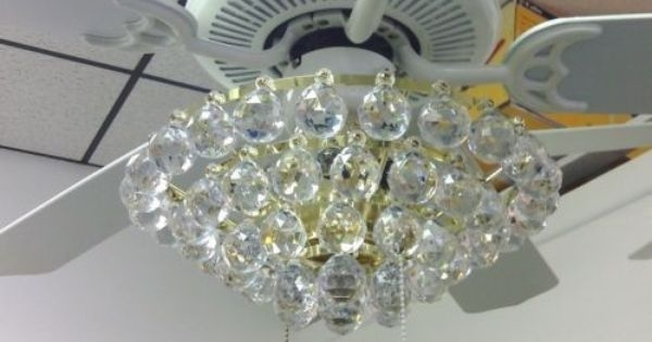 Acrylic Crystal Chandelier Type Ceiling Fan Light Kit