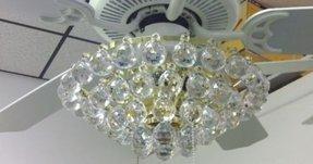 Crystal Ceiling Fan Light Kit Ideas