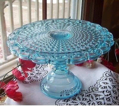 Vintage Glass Footed Cake Plate Cake Stand With Glass Cover//Lid Choice