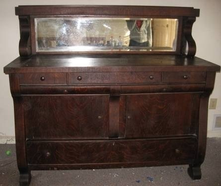 Antique Buffet With Mirror >> Oak Sideboards And Buffets Ideas On Foter