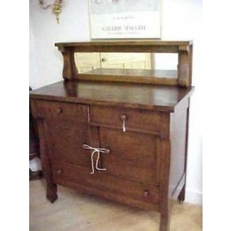 Antique sideboard with mirror 1