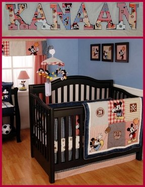 Baby boy sports crib bedding