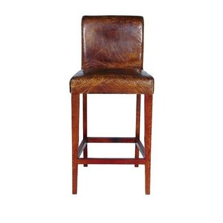 Bar stool rustic chic western barnwood bar stool rustic redwood