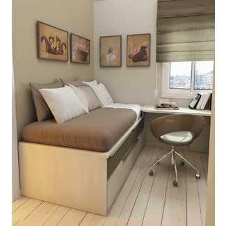 Bed with desk attached 1