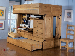 Bunk bed with dresser and desk 1