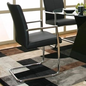 Chrome and leather dining chairs
