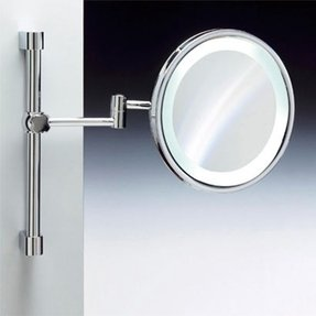 Lighted makeup mirror wall mount battery operated foter complements warm light makeup mirror aloadofball Images