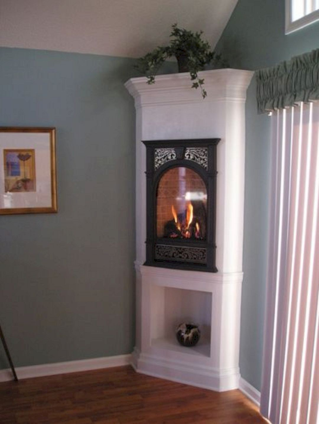 Corner Ventless Gas Fireplace