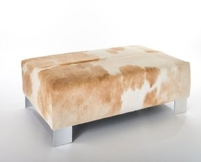 New Cowhide Ottoman Coffee Table