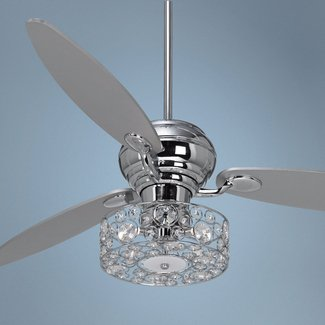 Crystal ceiling fan light kit 4