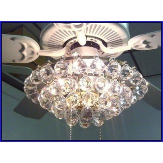 Crystal ceiling fan light kit