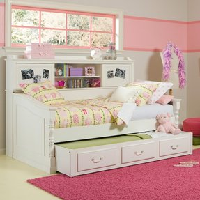 daybed with bookcase - Bookshelves Around Bed