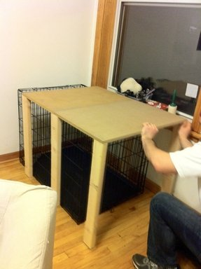 Dog cage side table
