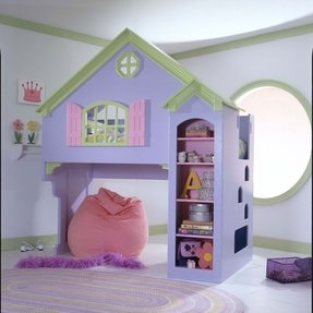 Dollhouse bunk beds