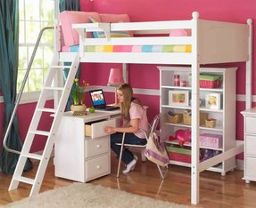 Double Loft Bed With Desk Ideas On Foter