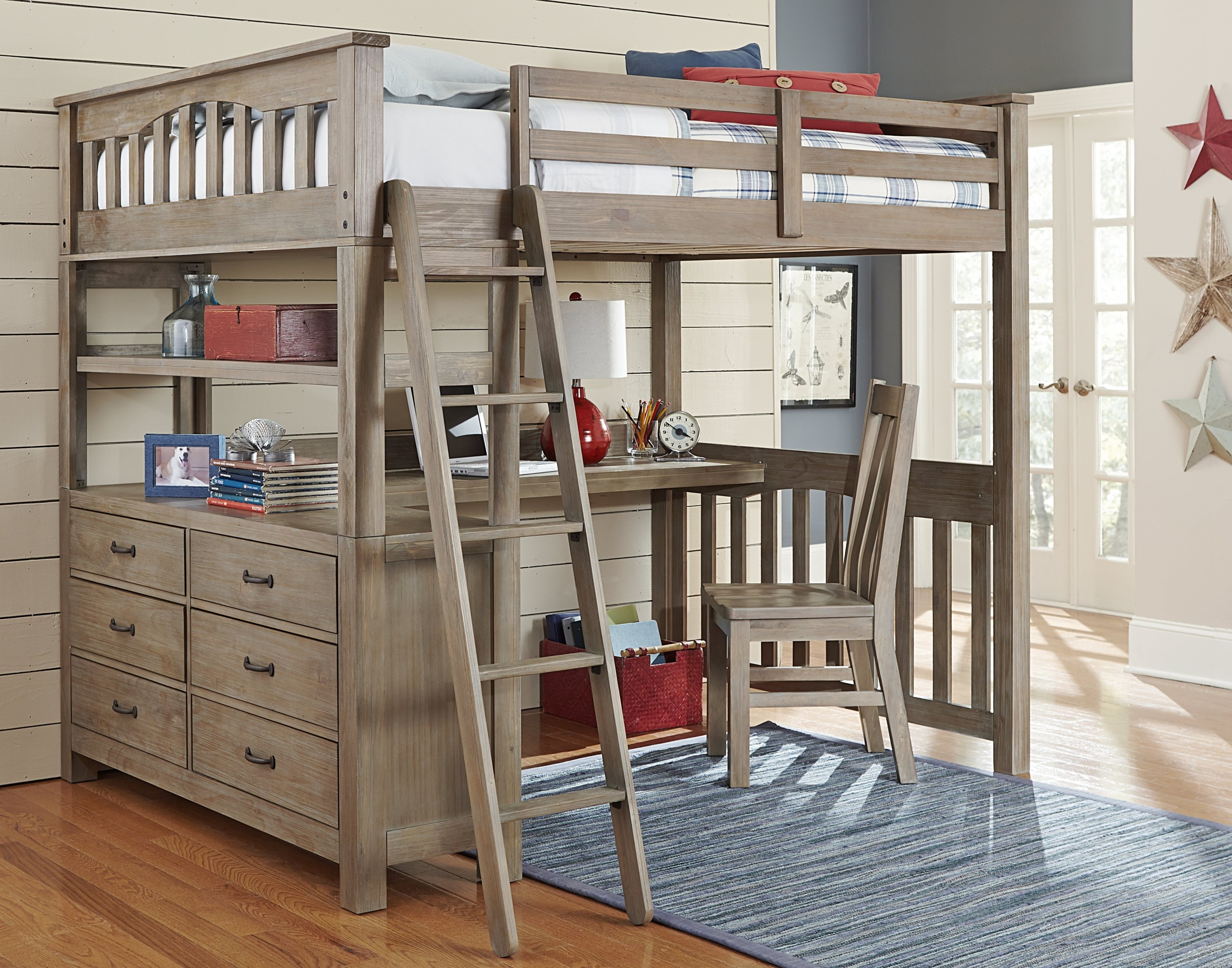 Double Bunk Bed With Desk Ideas On Foter